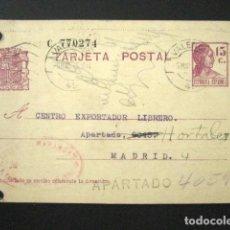Sellos: ENTERO POSTAL PRIVADO. LIBRERÍA MARABUAT, VALENCIA. II REPÚBLICA 1935. PRIVATIZADO. Lote 126241683