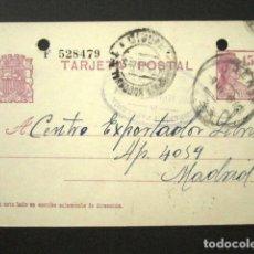 Selos: ENTERO POSTAL PRIVADO. LIBRERÍA JOSÉ ALVÁREZ SÁNCHEZ, ORENSE. II REPÚBLICA 1935. PRIVATIZADO. Lote 126241823
