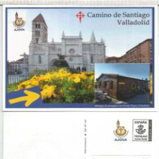 Sellos: ENTERO POSTAL TARIFA A AJOVA CAMINO DE SANTIAGO VALLADOLID MARCA ALBERGUE PUENTE DUERO. Lote 179521871