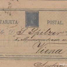 Sellos: ENTERO POSTAL .-ALFONSO XII Nº 8 A 5C. AZUL GRIS, FONDO VERDE OSCURO AÑO 1875 - CIRCULADO EN 1881. Lote 127936923