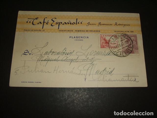 PLASENCIA CACERES CAFE ESPAÑOL (Sellos - España - Entero Postales)