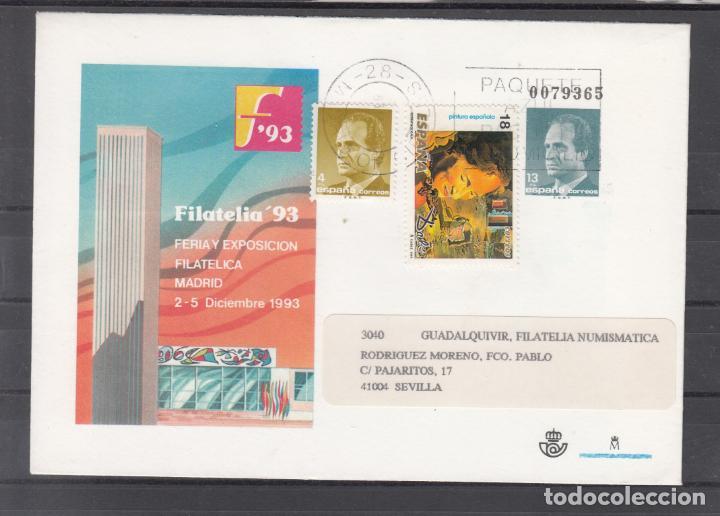 ESPAÑA S.E.P. .21 CIRCULADO, FERIA Y EXP. FIL. FILATELIA 93, MADRID, REMITE EDIFIL S. A. (Sellos - España - Entero Postales)