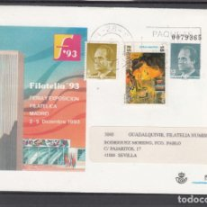 Sellos: ESPAÑA S.E.P. .21 CIRCULADO, FERIA Y EXP. FIL. FILATELIA 93, MADRID, REMITE EDIFIL S. A.. Lote 132638298