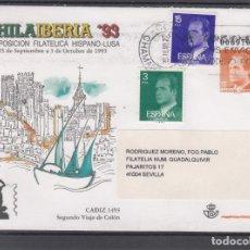 Sellos: ESPAÑA S.E.P. .20 CIRCULADO, II EXP. FIL. HISPANO-LUSA, CADIZ. Lote 132639790