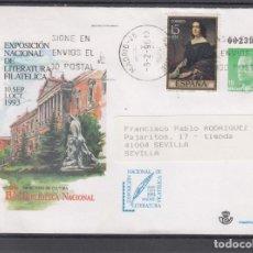 Sellos: ESPAÑA S.E.P. .19 CIRCULADO, EXP. NAC. LITERATURA FIL. MADRID, . Lote 132643734