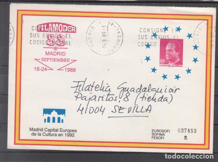 ESPAÑA S.E.P. .11 CIRCULADO, EXP. FIL. FILAMODER, MADRID, REMITE SANTIAGO GILI (Sellos - España - Entero Postales)