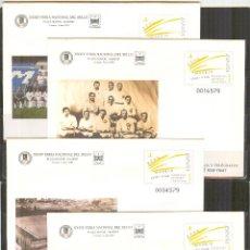 Sellos: SEP 78 ENTERO POSTAL CENT. REAL MADRID FUTBOL 2002 NUEVOS 4 SOBRES. Lote 135105614
