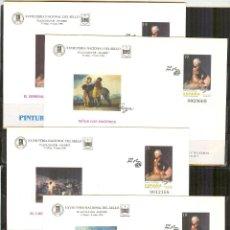 Sellos: SEP 35 ENTERO POSTAL FERIA NAC.SELLO 1996 FRANCISCO GOYA NUEVOS 4 SOBRES. Lote 135108126