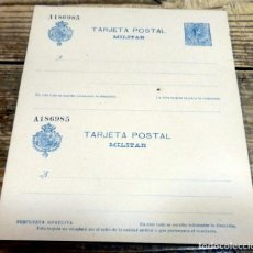 Sellos: ENTERO POSTAL MILITAR ESPAÑA - 15 CENTIMOS -DOBLE CON TARJETA RESPUESTA. Lote 136433490