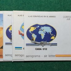 """Sellos: ENTEROS POSTALES """"AEROGRAMAS"""" AÑOS 1983 A 1988 INCLUIDOS Nº 205 A 213. Lote 136299120"""
