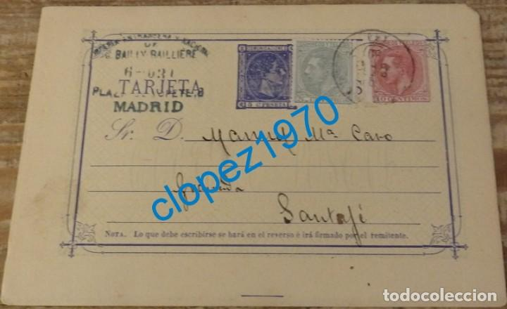 ESPAÑA.(CAT. 8+201 Y 202).1880.E.P. DE 5 CTMOS.DE MADRID A SANTA FE, GRANADA (Sellos - España - Entero Postales)