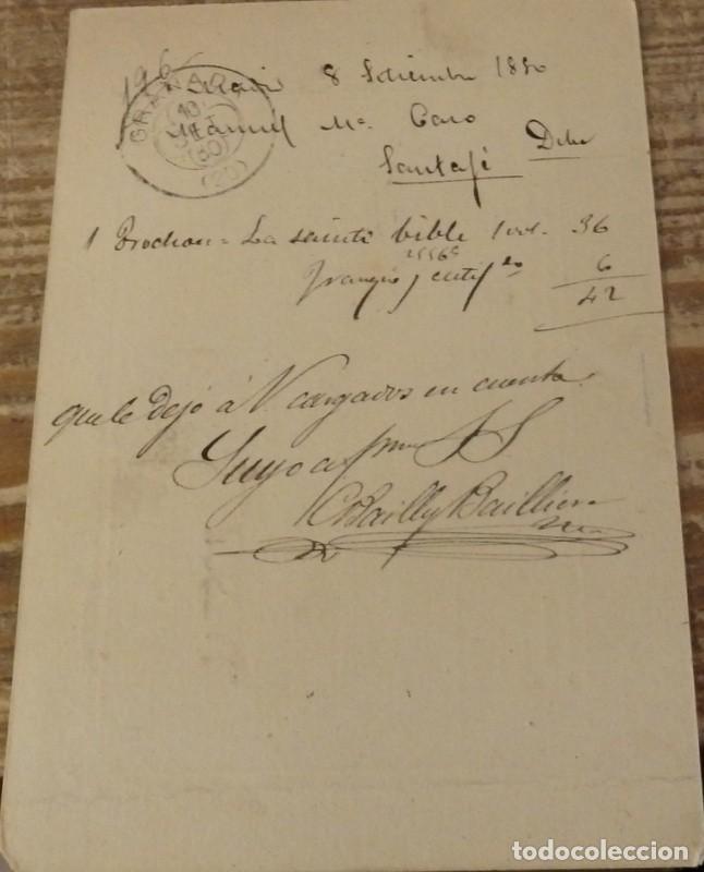 Sellos: ESPAÑA.(Cat. 8+201 y 202).1880.E.P. DE 5 CTMOS.DE MADRID A SANTA FE, GRANADA - Foto 2 - 136773410