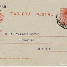 Sellos - ENTERO POSTAL DE JOSE CUBELLS MIR EN MORA LA NOVA - 1919- CON MATASELLOS AMB. MARSA EXPSO - 137905898