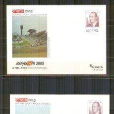 Sellos: SEP 98/99 ENTERO POSTAL BARNAFIL 2005 NUEVOS CARRERAS COCHES Y MOTOS. Lote 138606906