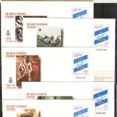 Stamps - SEP 59 ENTEROPOSTAL BARNAFIL 2000 CENT. ESPANYOL FUTBOL CLUB NUEVOS 5 SOBRES - 138608990