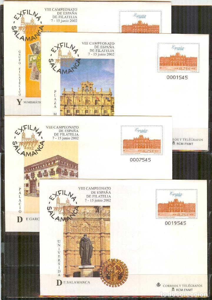 SEP 79 ENTERO POSTAL EXPOSICION EXFILNA 2002 SALAMANCA NUEVOS 4 SOBRES (Sellos - España - Entero Postales)