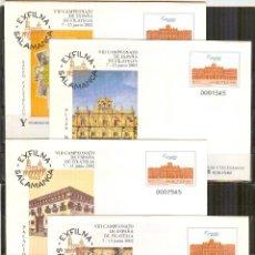 Sellos: SEP 79 ENTERO POSTAL EXPOSICION EXFILNA 2002 SALAMANCA NUEVOS 4 SOBRES. Lote 262540640