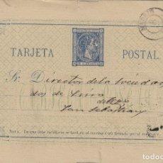 Sellos: ENTERO POSTAL .- ALFONSO XII AÑO 1875 Nº ED 8 - CIRCULADO MADRID / SAN SEBASTIAN . Lote 138706974