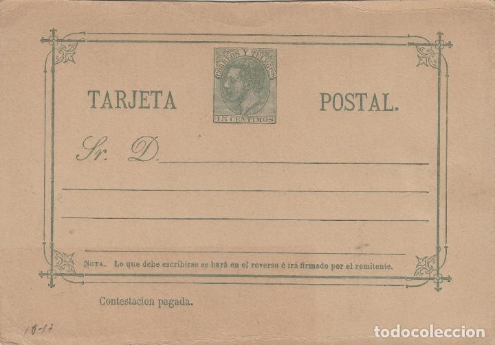 TARJETA / ENTERO POSTAL .- ALFONSO XII AÑO 1882 Nº ED 12 VUELTA - (Sellos - España - Entero Postales)