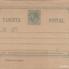 Sellos: TARJETA / ENTERO POSTAL .- ALFONSO XII AÑO 1882 Nº ED 12 VUELTA - . Lote 138820790
