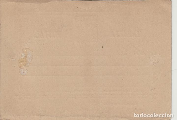 Sellos: TARJETA / ENTERO POSTAL .- ALFONSO XII año 1882 nº ed 12 vuelta - - Foto 2 - 138820790