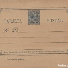 Sellos: TARJETA / ENTERO POSTAL .- ALFONSO XIII AÑO 1889 Nº ED 20 VUELTA . Lote 138824138