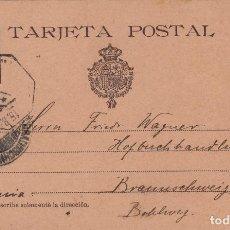 Sellos: ENTERO POSTAL-ALFONSO XIII CADETE AÑO 1901 Nº ED 37 CIRCULADO ALEMANIA . Lote 138888986