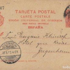 Sellos: ENTERO POSTAL-ALFONSO XIII CADETE AÑO 1901 Nº ED 42 CIRCULADO BARCELONA / ALEMANIA. Lote 138889854