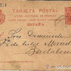 Sellos: ENTERO POSTAL DE CORDELERÍA DOMÉNECH HNOS. A JOSÉ MARTIN BERTRAN - BARCELONA - 1904. Lote 139680294