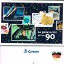 Sellos: TARJETA DEL CORREO 80-33, LA GENERACION DE LOS 90, FELIX RODRIGUEZ DE LA FUENTREUNIIFICACION ALEMANA. Lote 142499214
