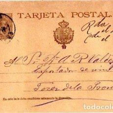 Sellos: ENTERO POSTAL ALFONSO XIII, JEREZ DE LA FRONTERA. 1900. Lote 142880550