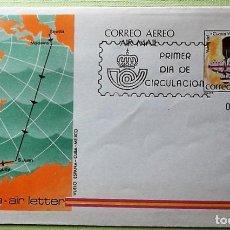 Sellos: ESPAÑA. AEROGRAMA 203 VUELO DEL CUATRO VIENTOS. 1982. MATASELLO PRIMER DÍA. Lote 143700185