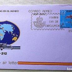 Sellos: ESPAÑA. AEROGRAMA 205 AVIÓN CASA 212. 1983. MATASELLO PRIMER DÍA. Lote 143700233