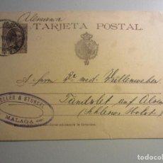 Sellos: ENTERO POSTAL 27 MATASELLOS MALAGA. Lote 146563638