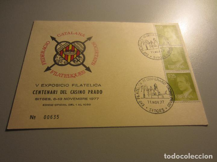 SITGES V EXPOSICIO FILATELICA CENTENARI DEL CASINO PRADO (Sellos - España - Entero Postales)