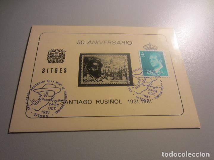 50 ANIVERSARIO SANTIAGO RUSIÑOL SITGES (Sellos - España - Entero Postales)