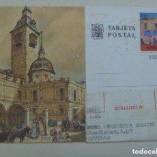 Sellos: ENTERO POSTAL DE MADRID: PARROQUIA SAN GINES, CALLE ARENAL . CIRCULADO A SEVILLA. AÑOS 60. Lote 147953022