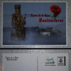 Sellos: ESPAÑA SPAIN FIESTA DE LA ROSA MONTESCLAROS 2018 TARJETA DEL CORREO ENTERO POSTAL INICIATIVA PRIVADA. Lote 151636533