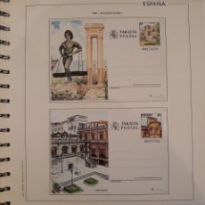 Sellos: CONJUNTO ENTERO POSTAL MALAGA SANTANDER 1987. Lote 151855572