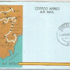 Sellos: AEROGRAMA RUTA DE LOS PUEBLOS BLANCOS ANDALUCIA TURISMO. Lote 151968086