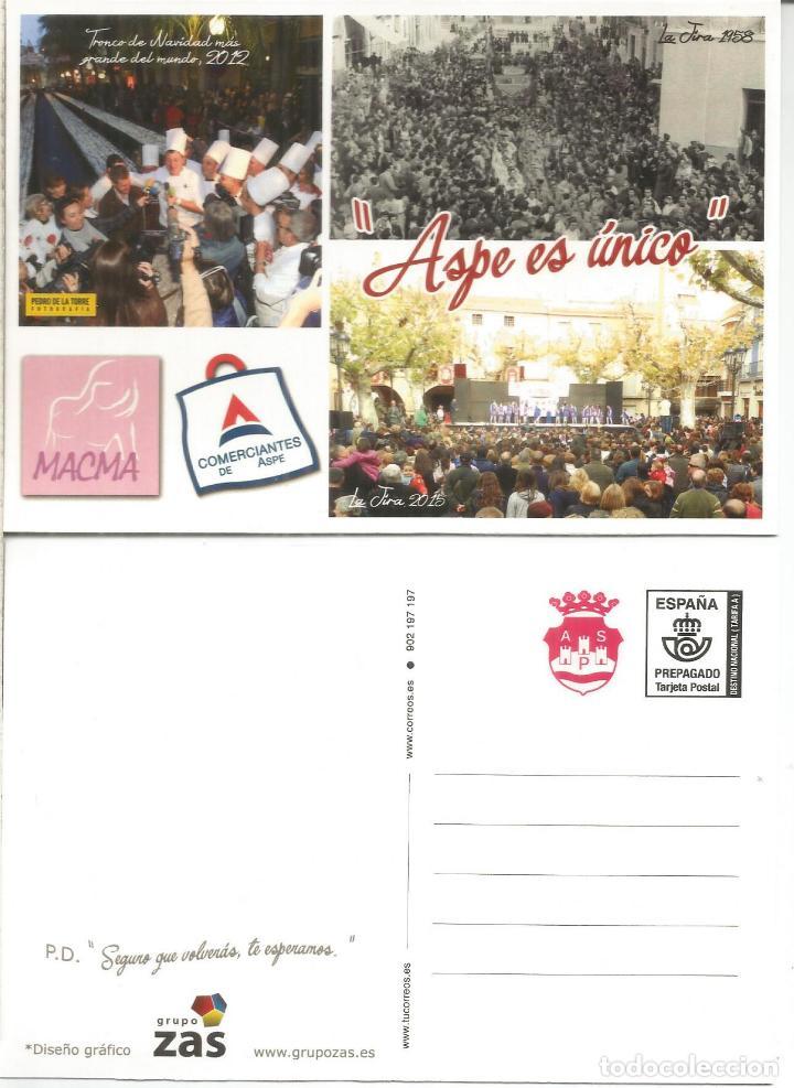 ENTERO POSTAL TARIFA A ASPE ALICANTE (Sellos - España - Entero Postales)