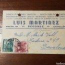 Sellos: TARJETA ENTERO POSTAL. LUIS MARTINEZ. SEGORBE. CASTELLON. 1952. Lote 152488442