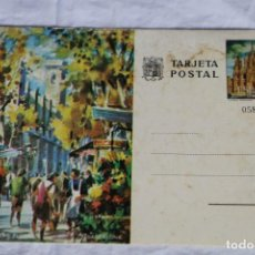 Sellos: ENTERO TARJETA POSTAL RAMBLA DE LAS FLORES. BARCELONA.. Lote 156625554