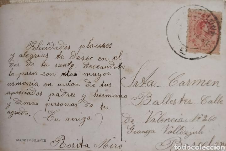 ANTIGUA CARTA A ROSITA MIRÓ CON SELLO (Sellos - España - Entero Postales)