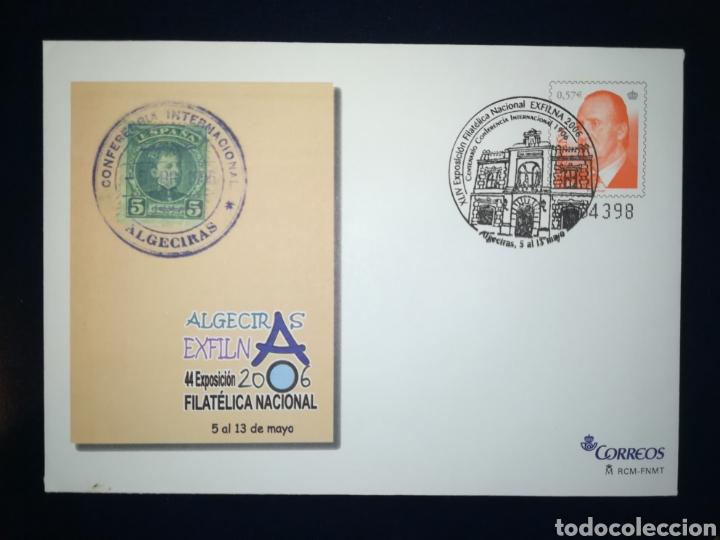 ESPAÑA EXFILNA 2006 ALGECIRAS MATASELLO DE LA FERIA EDIFIL 109 SOBRE ENTERO POSTAL SEP (Sellos - España - Entero Postales)