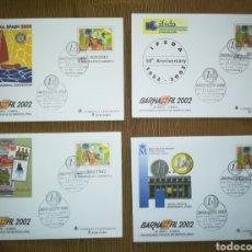Stamps - ESPAÑA SPAIN BARNAFIL 2002 BARCELONA EDIFIL 77 SOBRES ENTERO POSTAL SEP - 160389657