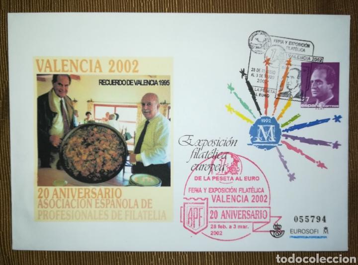 ESPAÑA SPAIN EXPOSICIÓN FILATELIA VALENCIA 2002 CON GOMÍGRAFO EDIFIL 75B SOBRE ENTERO POSTAL SEP (Sellos - España - Entero Postales)