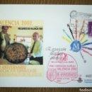 Sellos: ESPAÑA SPAIN EXPOSICIÓN FILATELIA VALENCIA 2002 CON GOMÍGRAFO EDIFIL 75B SOBRE ENTERO POSTAL SEP. Lote 160390354