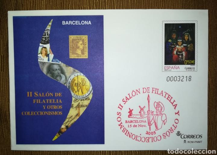 ESPAÑA SPAIN SALON DE FILATELIA BARCELONA 2005 CON GOMÍGRAFO EDIFIL 103 SOBRE ENTERO POSTAL SEP (Sellos - España - Entero Postales)