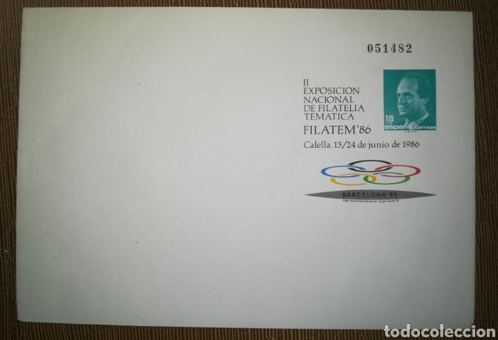 ESPAÑA SPAIN FILATEM 86 CALELLA 1986 EDIFIL 4 SOBRE ENTERO POSTAL SEP (Sellos - España - Entero Postales)
